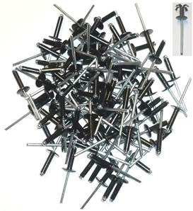RIVETS ECLATEURS NOIRS TETE LARGE 4.8 x 20