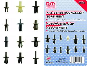 ASSORTIMENT 350 CLIPS DE FIXATION, VW, AUDI, FORD, MERCEDES, VOLVO