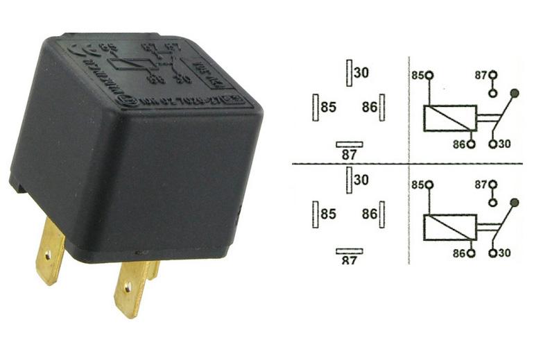 relais universel 12 volts 30 amp res 4 plots. Black Bedroom Furniture Sets. Home Design Ideas