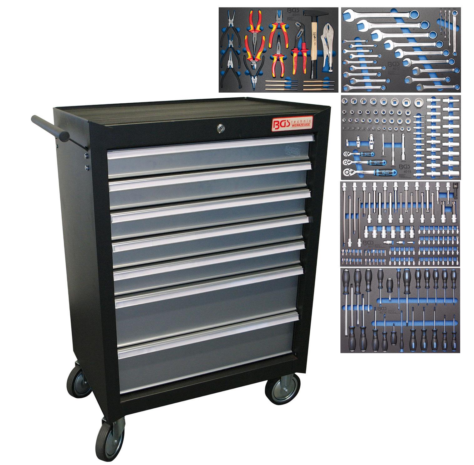 servante outillage complete 243 outils bgs oc pro fr. Black Bedroom Furniture Sets. Home Design Ideas