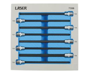 JEU LASER 7356 D'EMBOUTS TORX EXTRA LONGS 200 mm