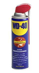 WD 40 SYSTEME PRO 5 FONCTIONS AEROSOL 500 ml DOUBLE POSITION