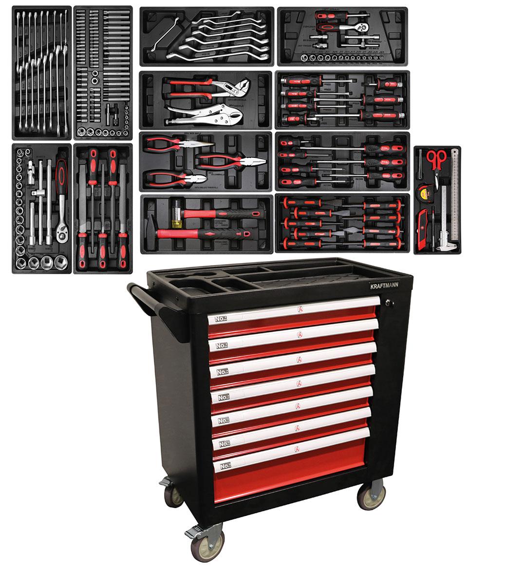 servante garage atelier complete 197 outils oc pro fr. Black Bedroom Furniture Sets. Home Design Ideas
