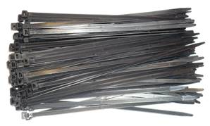 ATTACHE CABLES RILSAN 280 x 7.6 NOIRS - 100 COLLIERS PLASTIQUE