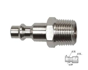 EMBOUT FILETAGE 3/8 NPT MALE DE COUPLEUR PNEUMATIQUE EUROPEEN
